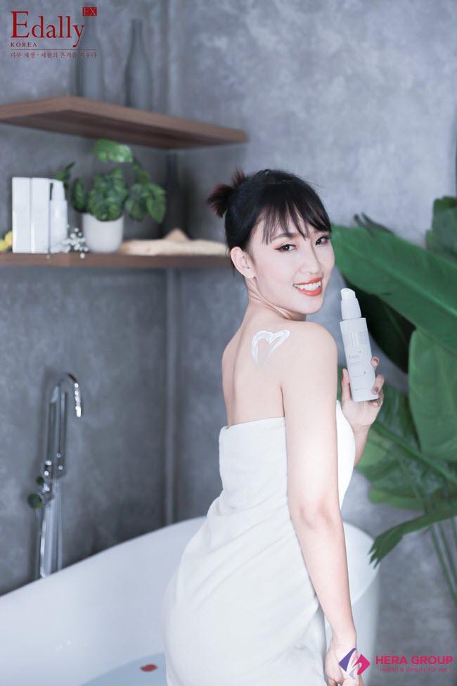 Cách sử dụng Sữa tắm truyền trắng Edally